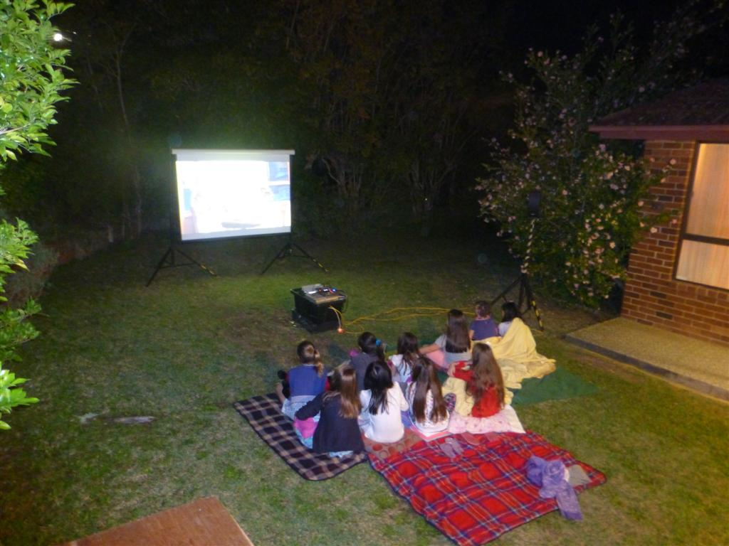 Backyard Movie Projectors projector and screen hire